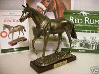 Red Rum Racing Horse Figurine Statue. Plus:Print/Info/COA/ Boxed,NEW.L@@K-PICS!