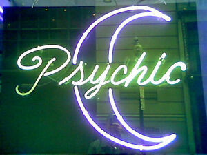 "17""x14""Psychic Moon Neon Sign Light Tiki Bar Pub Wall Hanging Handcraft Artwork"