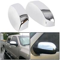 For 2007-2013 Chevy Silverado / GMC Sierra CHROME Top Half Mirror Covers Overlay