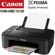 Printer Wireless Canon Pixma Home TS3160 All-in-One WiFi + Ink Cartridge Set NEW