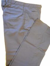 "NOS Vtg '90's Tonix NOLOGO Golf Coaches Pants Slacks Sz 34"" No Hem NAVY BLUE"