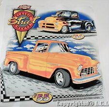 Vintage 54 55 Chevy Street Rod Pickup Truck Iron on Display Poster Cut out