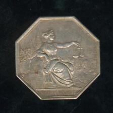 grand jeton octogonal argent tribunal de commerce de Rouen 1832
