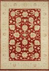 """Momeni Heirlooms Chobi Hand Knotted Wool Red Area Rug 4' X 5'9"""""""