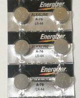 6 Fresh Genuine Energizer A76 LR44 AG13 357 157 303 Alkaline Battery