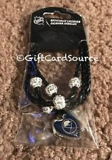 OFFICIALLY LICENSED BUFFALO SABRES HOCKEY ROPE BRACELET WITH CHARM LOGO  NEW