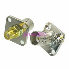 1pce Adapter Connector BNC female jack to SMA female Flange for Radio Antenna
