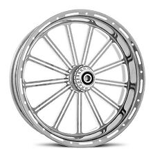 "DNA ""THIRTEEN"" CHROME FORGED BILLET WHEEL 16"" X 5.5"" REAR HARLEY 2009+ TOURING"