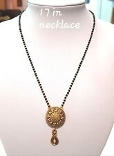 Gold Plated Jewelry Mangalsutra Set Pendant Necklace With Chain Traditional