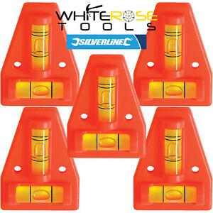 Silverline 2 Way Mini Spirit Level Caravan Motorhome Trailer Leveller Pitching