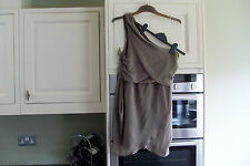 Brown One Shoulder Size 10 Dress in Excellent Condition