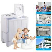11.5KG Compact Twin Tub Mini Washing Machine Washer Spiner Semi-Auto Portable US
