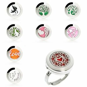 1PC Stainless Finger Ring Aroma Diffuser Essential Oil Locket Ring Gift
