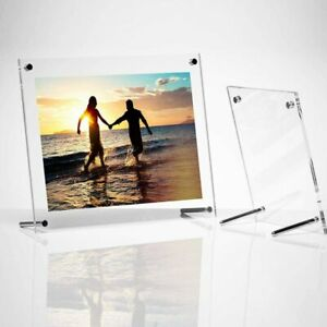 PHOTO FRAME CLEAR PERSPEX ACRYLIC WALL MOUNT POSTER PICTURE HOLDER 6X8INCH PHOTO