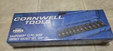 Cornwell 38 Drive Sae Deep Inpact Socket Set 6 Pt Cbpi2l