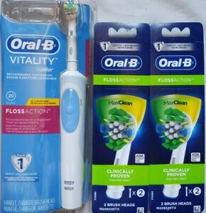 Oral-B Vitality Floss Action Rechargeable Power Toothbrush w/ 5 Heads Total