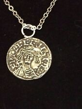 """William I Penny Coin WC12 Fine Pewter On a 18"""" Silver Plated Chain Necklace"""