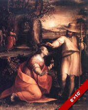 RISEN LORD JESUS CHRIST APPEARS TO MARY MAGDALENE PAINTING ART REAL CANVAS PRINT