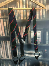 Formal Silk Braces(Suspenders) with leather ends