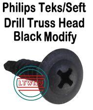 (250) #8 x 3/4'' Phillips Teks/Self Drill Screw Black Modify