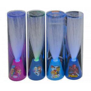 Lampe Led Faserlicht Paw Patrol Frozen Spiderman Shimmer & Shine Farbwechsel NEU