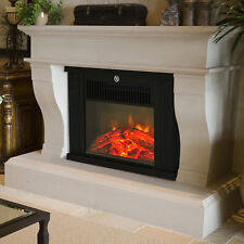 Chimenea Electrica 34x17x25cm 600/1200W Efecto Leña Ardiendo