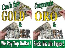 Poster Cash For Gold Amp Compramos Oro Spanish 2 Advertising Posters 18x24