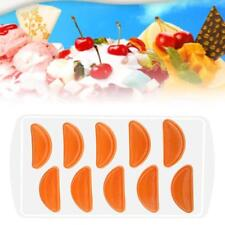 Silicone Pudding Freeze Tray Maker Ice Cube Jelly Chocolate Mould DIY Orange #D