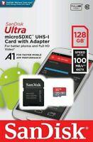 San Disk Class 10 Ultra 128GB 100MB/s Micro SD SDHC Memory Card UHS-I - UK