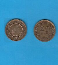Troisième République 20 Centimes 1898 Type Merley Essai  en Bronze