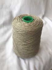Dark Natural 10%Cashmere90%Lambs On 500g Cone. Hand/machine Knit UK Spun. 3 Ply.