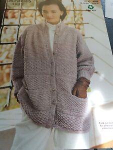 Patons  Womens Cardigan Knitting Pattern C 4000