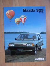 Mazda 323 Estate Prospekt / Brochure / Depliant, NL, 12.1983