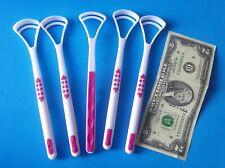 Tongue Cleaner Scraper Oral Care Dental Mouth Clean Breath 5 PC LOT