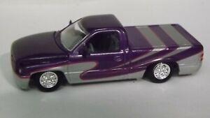 Racing Champions Purple & Silver '96 Dodge Ram Pickup Truck Opening Hood
