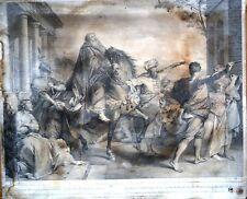 GRAVURE-ETIENNE JAURAT GRAVEUR-SEBASTIEN LECLERC-MARDOCHEE-BIBLE-ANTIQUITE-SUZE-