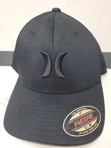 NWT -NIKE HURLEY M HRLY OAO HAT FlexFit Adult/Youth Baseball BLACK Hat S/M