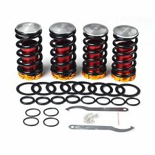 "Adjustable 1-4"" Lowering Suspension Coil over Coil Springs Black For Honda Civic"
