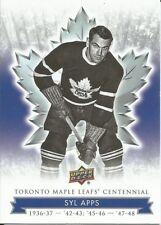 Syl Apps #22 - 2017 Toronto Maple Leafs Centennial - Base