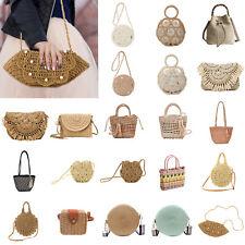 Straw Woven Shoulder Messenger Bags Women Weave Beach Travel Handbag Girls LOT