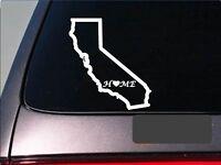 "California home 6"" sticker *E664* state outline home map decal vinyl"