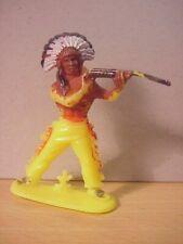 Jean Hoefler/Höfler - INDIAN STANDING SHOOTING RIFLE - Yellow/Painted