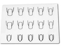 Silikonunterlage, Stampingunterlage, verschiedene Nagelformen