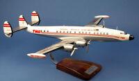 TWA Lockheed L-1049 Constellation G N7102C Desk Top Wood Model 1/72 AV Airplane