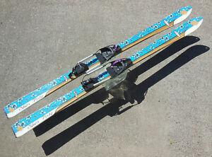 K2 SHE'S PISTE 167cm TELEMARK SKIS w/ BLACK DIAMOND RIVA Z COMP BINDINGS
