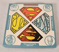 Fossil Superman Reign Of The Supermen Watch Limited Edition 1993 DC New