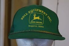 John Deere Dealer Bell Equipment Trucker Hat Cap Mesh Snapback Nezperce Idaho