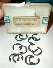 "(12) ""C"" Rear Motor Clips 3/8"" by Champion Vintage Original Slot Car NOS E clips"