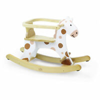 Vilac My First White Rocking Horse with Removable Hoop - Wooden - Hand-Painted