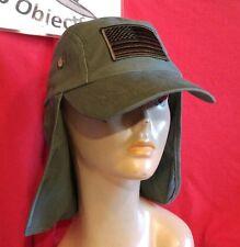 USA Flag Baseball Cap Ear Flap Military Hiking Fishing Sun Neck Cover Visor Hat